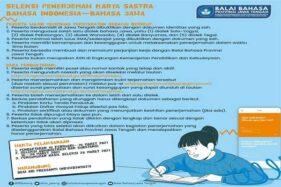 Balai Bahasa Jateng Adakan Seleksi Penerjemah Karya Sastra Bahasa Indonesia-Bahasa Jawa 2021