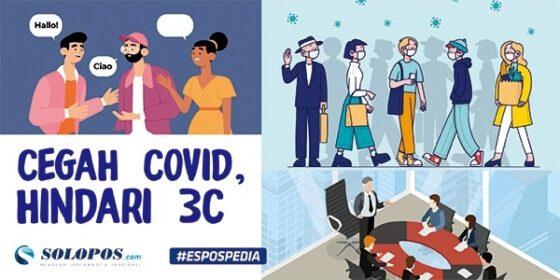 Infografis hindari 3C untuk mencegah Covid-19. (Solopos/Galih Ertanto)