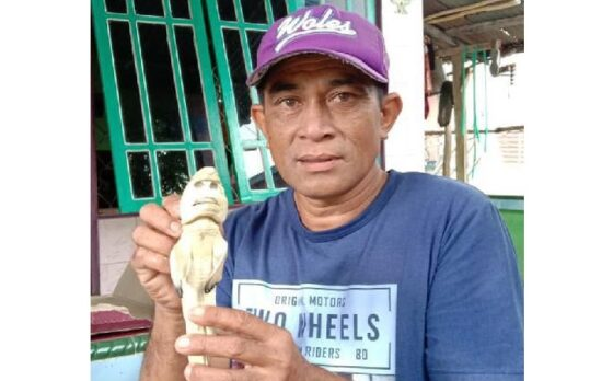 Hiu berwajah mirip manusia yang ditemukan di Rote Ndao, NTT. (Istimewa/Detik.com)