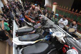47 Sepeda Motor Disita Polisi di Panularan Solo, Sebagian Tanpa STNK