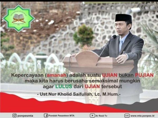Terjawab Sudah, Nur Kholid Syaifullah Penerus Ahmad Sukina Pimpin MTA