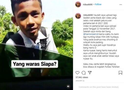 Bocah sekolah jadi korban prank enggak bisa bahasa Inggris (Instagram/@ridsu6690).