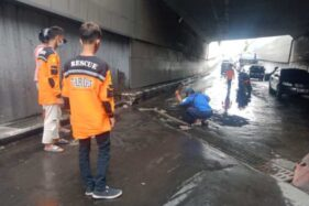 Penutup Drainase Rusak Melulu, Polisi Libatkan Sukarelawan Awasi Underpass Makamhaji Sukoharjo