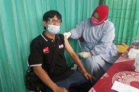 Puluhan Wartawan Disuntik Vaksin Covid-19 di RSIA Aisyiyah Klaten