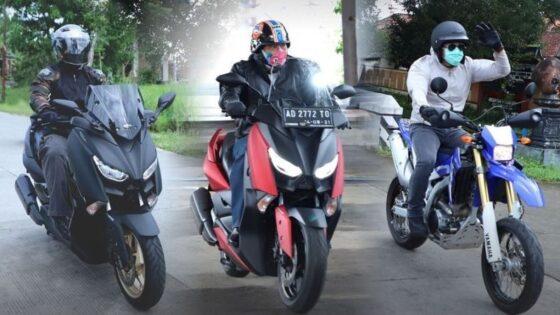 Mantan bupati Sukoharjo Wardoyo Wijaya (tengah) saat touring sepeda motor dengan Dandim 0726 Letkol Inf Agus Adhy Darmawan (kiri) dan Kapolres Sukoharjo AKBP Bambang Yugo Pamungkas (kanan), belum lama ini. (Istimewa/Polres Sukoharjo)