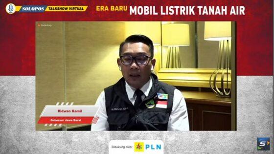 Gubernur Jawa Barat Ridwan Kamil soal mobil listrik jadi kendaraan dinas. (Tangkapan layar)