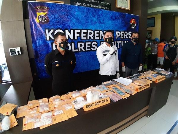 Polres Bantul Tangkap 18 Pelaku Kasus Narkoba Selama Februari