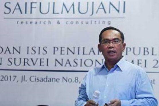 Pendiri Saiful Mujani Research and Consulting (SMRC) Saiful Mujani. (Antara-Hafidz Mubarak A.)