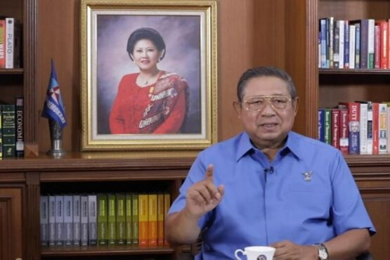 Ketua Majelis Tinggi Partai Demokrat Susilo Bambang Yudhoyono (SBY) menyampaikan arahan kepada para pemimpin dan kader Partai Demokrat, Rabu, 24 Februari 2021. (Youtube.com-Partai Demokrat)