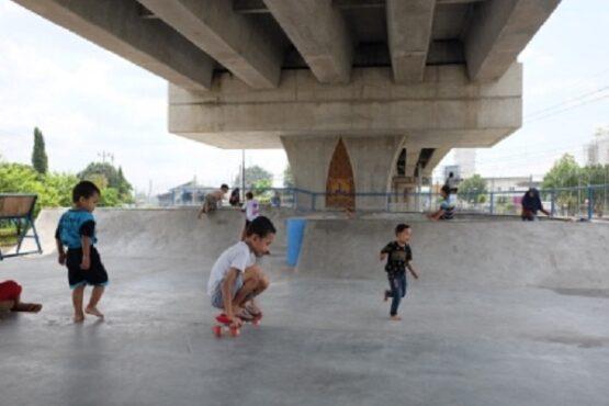 skateboard, skateboard Solo, flyover Purwosari, lokasi ngabuburit di solo