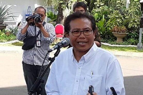 Juru Bicara Istana Kepresidenan Fadjroel Rahman di Istana Kepresidenan Jakarta, Senin (21/10/2019). (Bisnis-Amanda Kusumawardhani)