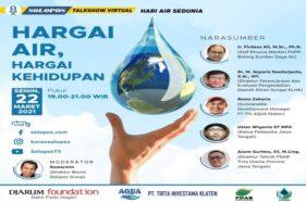 Solopos Gelar Talkshow Hari Air Senin Malam, Bongkar Pencemaran Air hingga Berburu Air ke Luweng