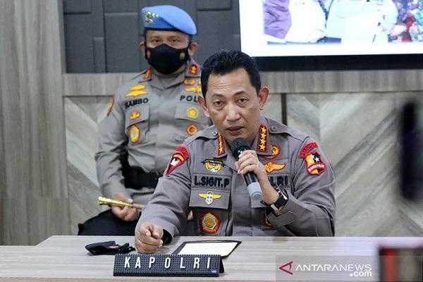 Kapolri Jenderal Pol. Listyo Sigit Prabowo.  (Antara/HO-Divisi Humas Polri)