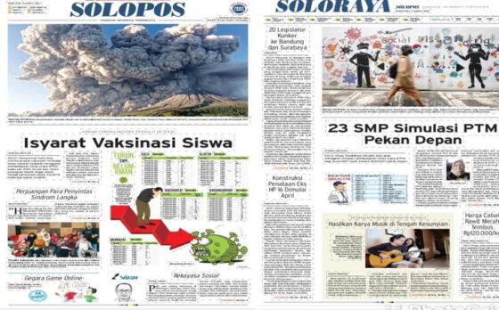 Koran Solopos edisi Rabu (3/3/2021).