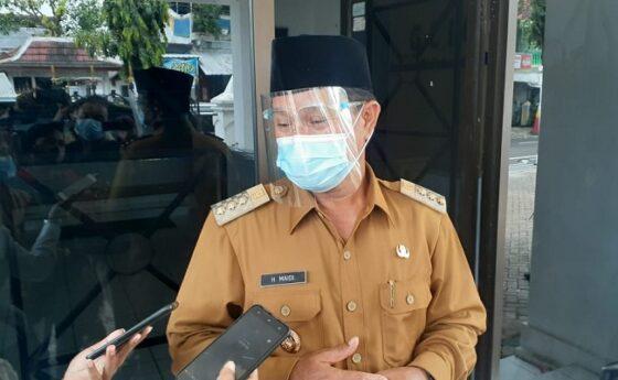 Wali Kota Madiun, Maidi, Senin (29/3/2021). (Abdul Jalil/Madiunpos.com)