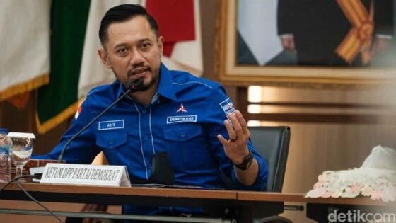 Ketua Umum Partai Demokrat, Agus Harimurti Yudhoyono, saat mendatangi KPU, Senin (8/3/2021). (detik.com)