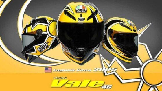 Helm AGV replika yang dipakai Valentino Rossi/agv