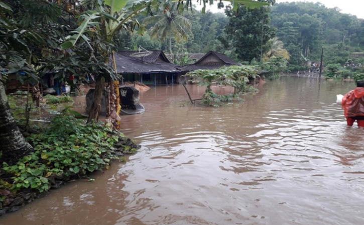 Hujan Deras, Sejumlah Dusun di Eromoko Wonogiri Banjir