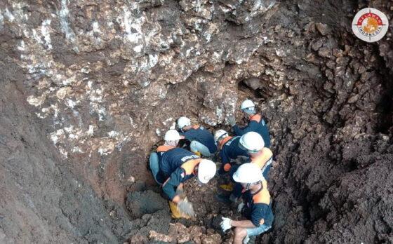 Proses pencarian luweng di Dusun Pakem, Desa Sumberagung, Kecamatan Pracimantoro, Wonogiri. (istimewa)