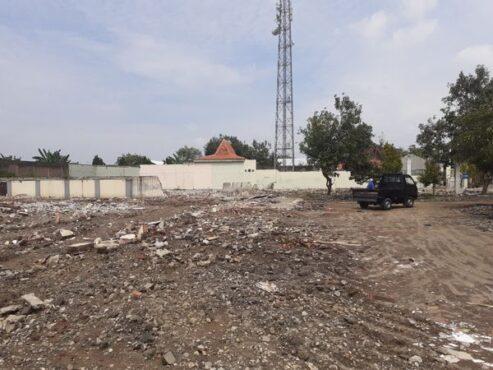 Lahan kosong bekas kantor sejumlah organisasi perangkat daerah (OPD) yang bakal menjadi lokasi Mal Pelayanan Publik (MPP) Sukoharjo, Selasa (2/3/2021). (Solopos/Bony Eko Wicaksono)