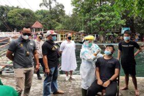 Pantau Kerumunan di Objek Wisata, Petugas Gabungan Boyolali Gelar Rapid Antigen Acak