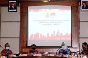 Pajak Daerah Sragen 2020 Anjlok Rp14 Miliar Jadi Sorotan KPK