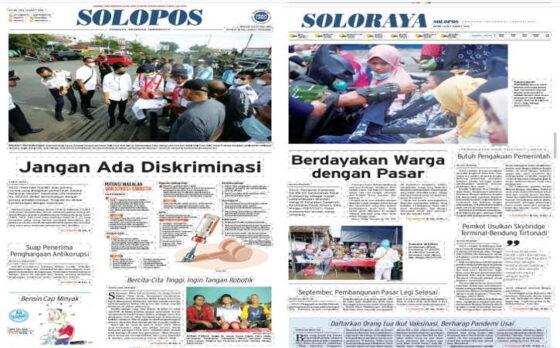 Koran Solopos edisi Senin (1/3/2021).