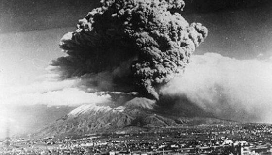 Salah satu letusan Gunung Vesuvius Italia. (Liputan6.com)