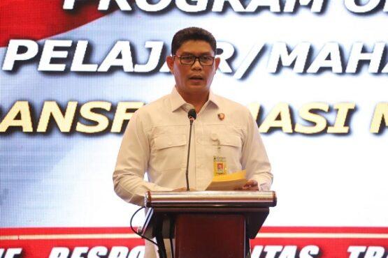 Dirintelkam Polda Jateng, Kombes Pol. Djati Wiyoto Abadi, saat meluncurkan aplikasi Senpi Online di Hotel Patra, Kota Semarang, Selasa (6/4/2021). (Semarangpos.com-Imam Yuda S.)