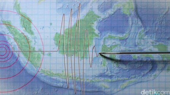 Ilustrasi Gempa Bumi di Indonesia. (Detik.com)