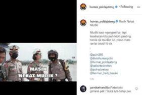 Begini Reaksi Netizen Tanggapi Imbauan Tidak Mudik Polda Jateng