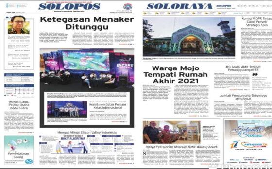 Koran Solopos edisi Senin (12/4/2021).