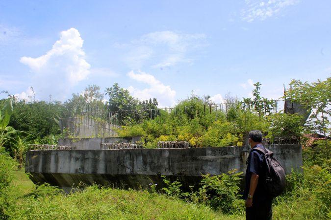 Dana Macet, Proyek Jembatan Masaran-Plupuh Sragen Terhenti Pada Fondasi