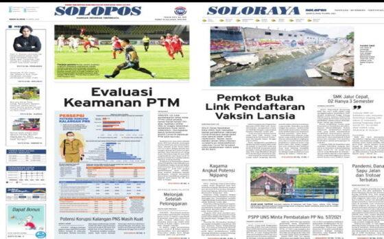 Koran Solopos edisi Senin (19/4/2021).