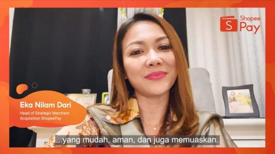 Sambutan dari Eka Nilam Dari, Head of Strategic Merchant Acquisition ShopeePay membuka acara ShopeePay Talk Eps.7.
