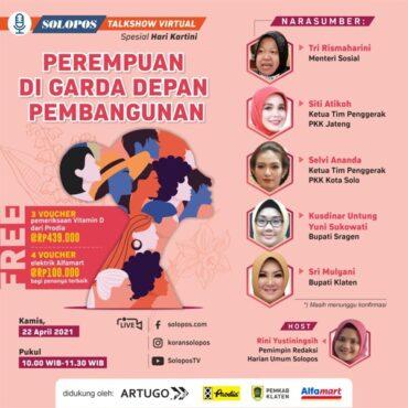 Talkshow Hari Kartini bareng Solopos Group Kamis (22/4/2021).