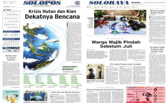 Koran Solopos edisi Kamis (22/4/2021).