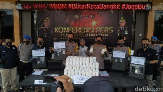 Polresta Blitar Ungkap Narkoba Bandar Jaringan Lapas Madiun