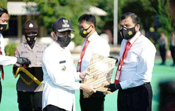 Bupati Pati Haryanto menghadiri pelantikan pembentukan Satgas Antijudi dan Politik Uang (patikab.go.id)
