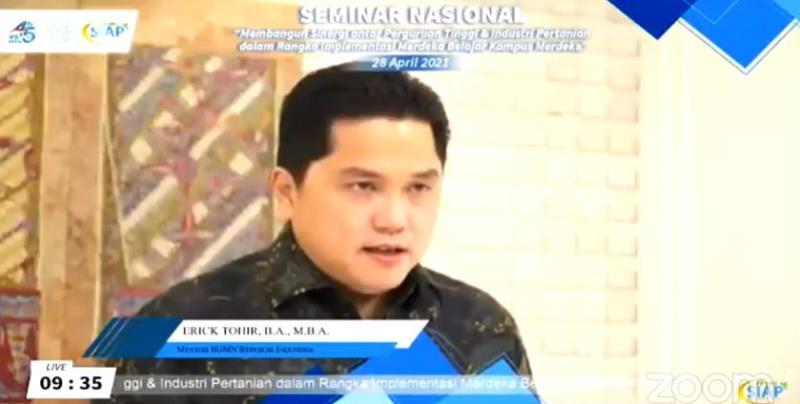 Erick Thohir: Sinergi BUMN-Perguruan Tinggi Dukung Merdeka Belajar Kampus Merdeka