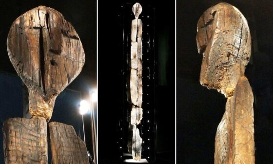 Patung Shigir Idol (Daily Mail)