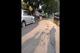 3 Mobil Dan 1 Motor Terlibat Laka Karambol Di Jalan Raya Lalung Polokarto Sukoharjo, Begini Kondisinya