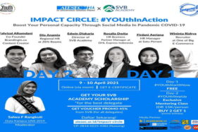 Impact Circle #YOUthInAction: Boost Your Personal Capacity Through Social Media in Pandemic Covid-19. (Istimewa)