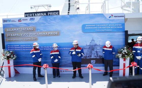 Kapal Very Large Crude Carrier (VLCC) Pertamina Pride milik Pertamina International Shipping (PIS) sebagai Sub Holding Pertamina telah tiba di Indonesia. (Istimewa)