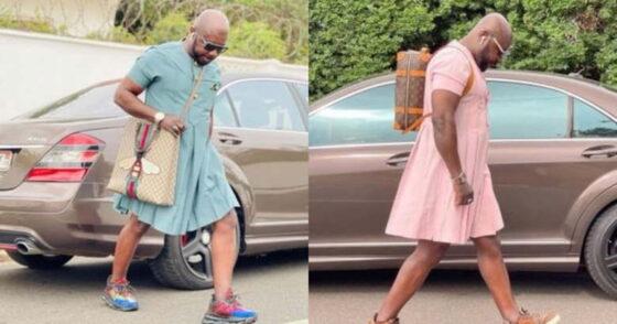 Penampilan pria maskulin mengenakan dress selutut memicu perdebatan. (Twitter/wolipop)