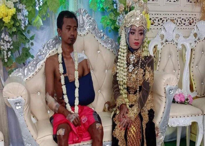 Viral Mempelai Pria Perbanan di Hari Pernikahan, Waduh Kenapa Ya?