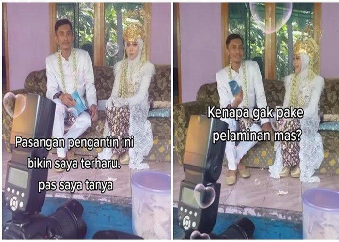 Menikah Tanpa Pelaminan, Pasangan Pengantin Ini Bikin Baper