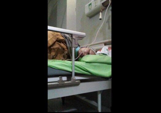 Kondisi Sulami yang tengah menjalani perawatan di RSUD dr Soehadi Prijonegoro Sragen, Minggu (11/4/2021). (Istimewa/Susilowati)