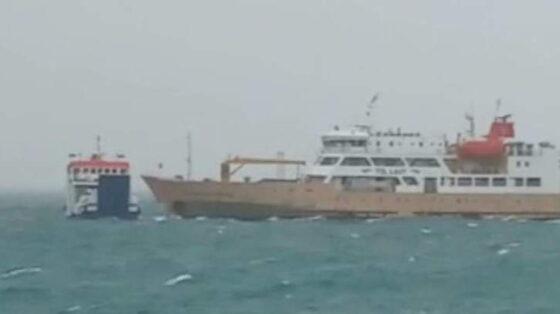 Kapal Motor (KM) Namparos bertabrakan dengan kapal ternak KM Camara Nusantara. (Detik.com)