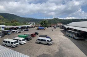 Terminal Tawangmangu Karanganyar Masih Sepi Pemudik